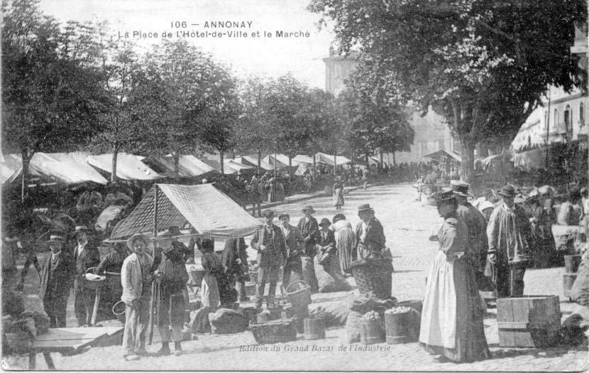 Foyer Hotel De Ville Annonay : Le marche d annonay voyage dans temps ardeche