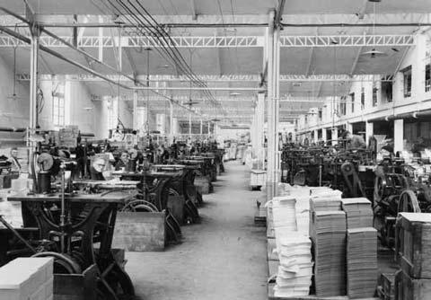 Garnier Ponsonnet (5) : A gauche les machines fixes, à droite les machines universelles