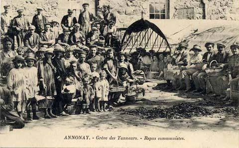 Tanneries, grève (2) : Les repas communistes